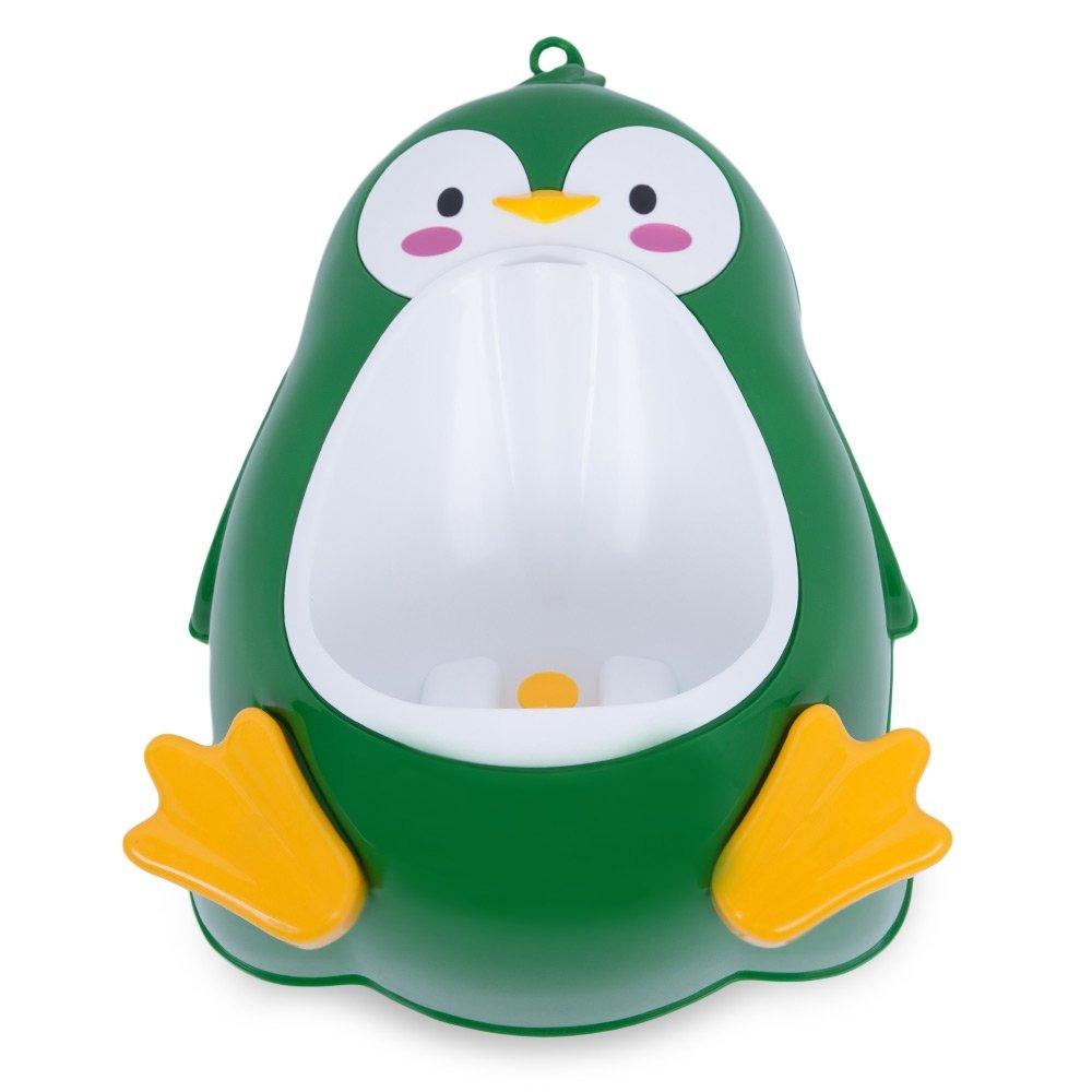 Robolife Separable Suspensible Lovely Penguin Shape Potty for Boys Standing Urinal Black