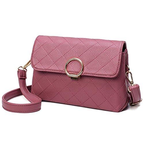 FZHLY Nuova Signora Lingge Singola Spalla Boutique Diagonale Pacchetto Flip Bag,Purple