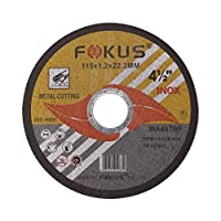 FOKUS Ultra Thin Disc 4-1/2'' by 0.045'' Metal and Stainless Steel Cut Off Wheels 7/8'' Arbor PACK OF 25