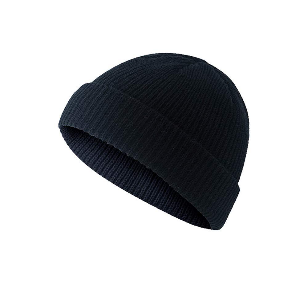 levliong Men Knitted Hat Beanie Skullcap Sailor cap Cuff Brimless Retro Navy Style Beanie Hat