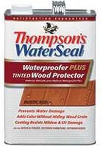 Thompson Waterseal Waterproofer 11841 Wood Protector 1 Gal, Rustic Red