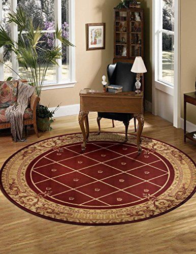 Nourison Ashton House (AS03) Sienna Round Area Rug, 5-Feet 6-Inches by 5-Feet 6-Inches (5'6