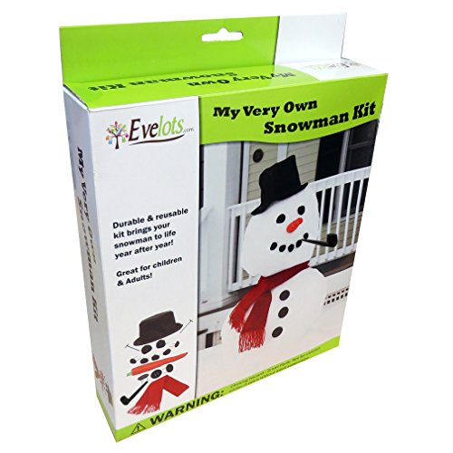 Evelots My Very Own Snowman Kit, Winter Fun for All, 16 Pieces Included -