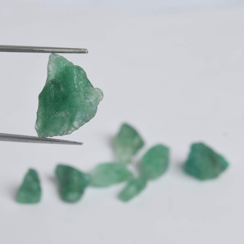 Rough Emerald Natural Stone Lot of 8 Pcs Gemhub Raw Green Emerald 46.00 Ct Healing Crystal