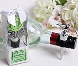 60pcs Lovebirds Chrome Wine Bottle Stopper in Box For Wedding Favor