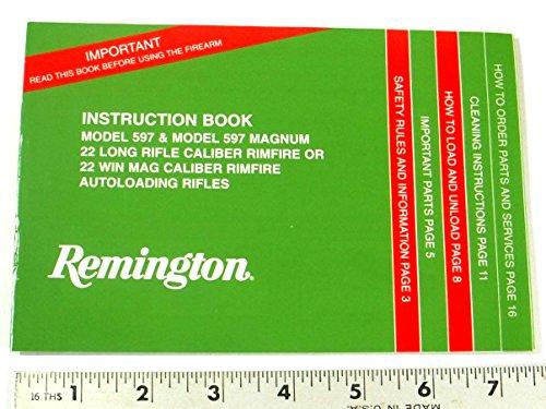 REMINGTON GUN OWNER'S MANUAL - MODEL: 597 & 597 MAG RIMFIRE RIFLE (Owners Manual Pistol)