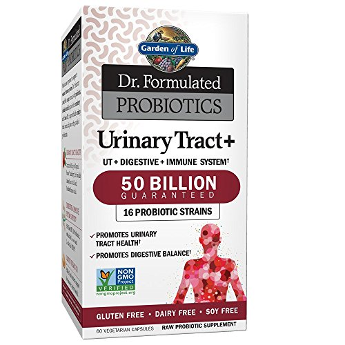 Garden of Life - Dr. Formulated Probiotics Urinary Tract+ - Acidophilus Probiotic Supports Urinary Tract Health, Digestive Balance - Gluten, Dairy, and Soy-Free - 60 Vegetarian Capsules (Shipped - Acidophilus Urinary Tract