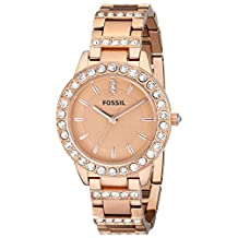Fossil Women's ES3020 Jesse Analog Display Analog Quartz Rose Gold Watch