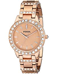 Women's ES3020 Jesse Rose Gold-Tone Stainless Steel Watch...