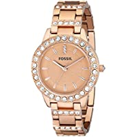 Women's ES3020 Jesse Rose Gold-Tone Stainless Steel Watch with Link Bracelet