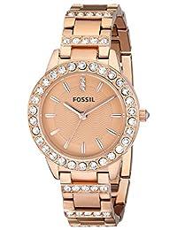 Fossil Women's ES3020 Jesse Analog Display Analog Quartz Rose Gold Watch