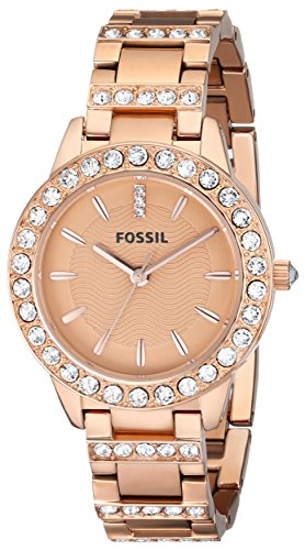Fossil-Womens-ES3020-Jesse-Rose-Gold-Tone-Stainless-Steel-Watch-with-Link-Bracelet