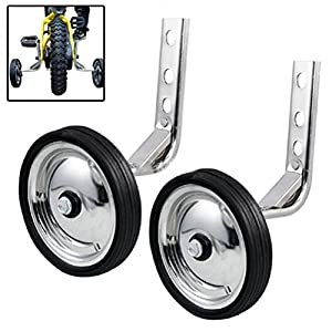 Little World Training Wheels Heavy Duty Rear Wheel Bicycle Stabilizers Mounted Kit Compatible for Bikes of 14 16 18 Inch, 1 Pair