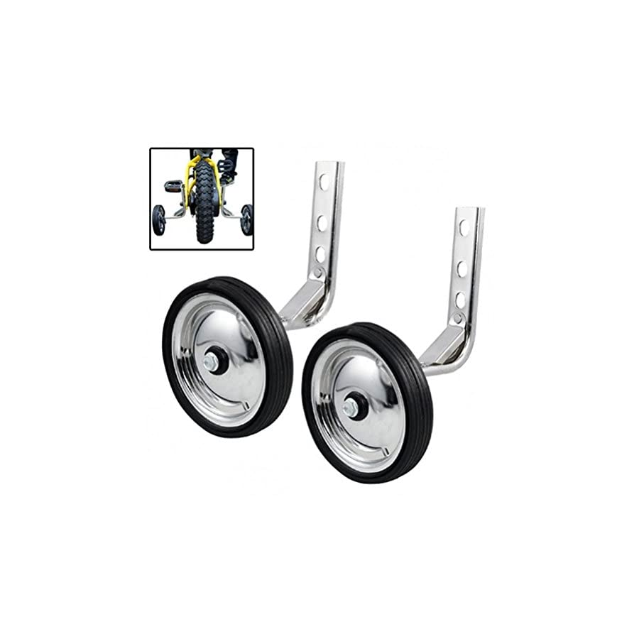 Little World Training Wheels, Heavy Duty Rear Wheel Bicycle Stabilizers Mounted Kit Compatible