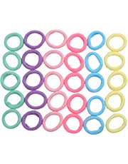 CCINEE 100 Pieces Candy Colors Mini Hairbands Girl Baby's Elastic Hair Ties Tiny Soft Rubber Bands for Baby Kids