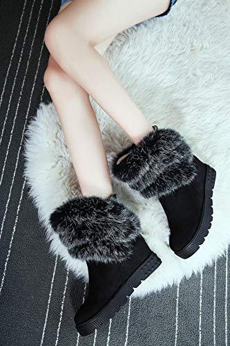 Neve 34 Stivali Cotone nero Moda Da stivali Ig 37 Più Donna inverno Velluto Caldo Di 43 BPfFcARFw