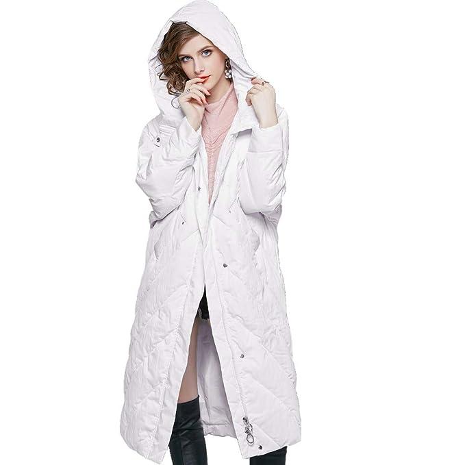 RSTJ-Sjc Chaqueta de plumón de color sólido para mujer Abrigo de diseño con capucha no desmontable Cálido Ideal para viajes, esquí y deportes de invierno: ...