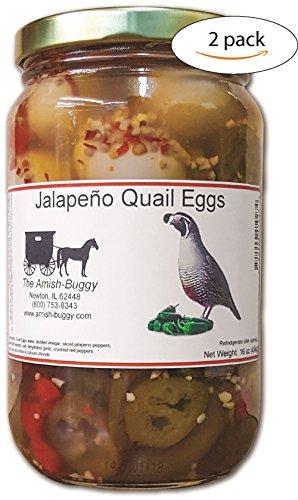 Pickled Quail Eggs (Jalapeno Quail Eggs (Hot Heat)) 2 jars