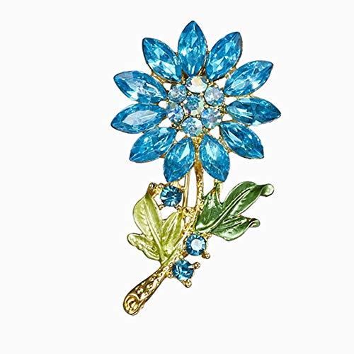 Brooch Pin,Maserfaliw Jewelry Brooch Breastpin,Fashion Women Rhinestone Flower Shape Brooch Pin Scarfs Clothes Jewelry Gift - Blue from Maserfaliw_Brooch Pin