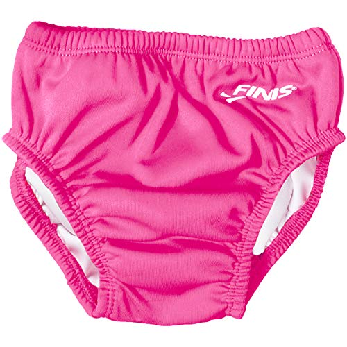 Girls Swim Diaper in Solid Pink, Large