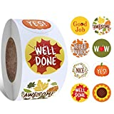 Reward Stickers for Teachers, UVANKAUP Motivational Stickers roll 1 Inch Reward Stickers for
