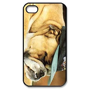 Cute Pug Dog Personalized Custom Phone Case For iPhone 4 4S Hard Case Cover Skin
