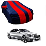MotRoX Car Body Cover For Mercedes Benz E-Class with Side Mirror Pocket (Red & Blue)