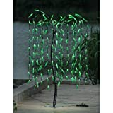 LIGHTSHARE 5.5 Feet Willow Tree Light, Green Light for Summer Home Garden Decoration/Wedding/Birthday/Christmas/Holiday/Party Decoration
