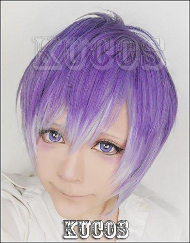 Kanato Sakamaki Costume (Mzcurse Diabolik Lovers Kanato Sakamaki Purple Gradient Mix Cosplay Hair Wig)