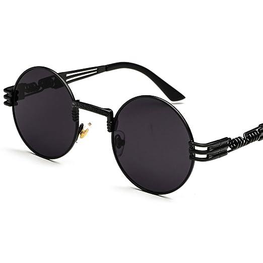 6693ff1c45d73 Vintage Round Sunglasses Men Black Retro Punk Sun Glasses Women Summer 2018  (full black)
