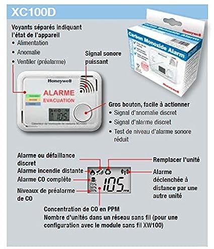Detector de monóxido de Carbono XC100D-FR-A: Amazon.es: Bricolaje y herramientas