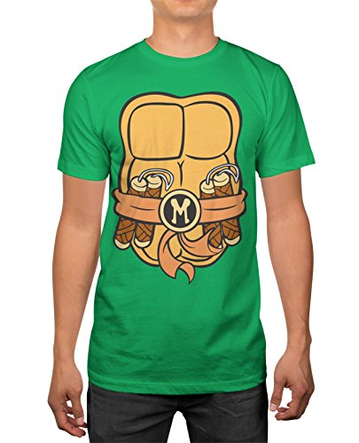 Woman Ninja Turtle Costume Ideas (TMNT Teenage Mutant Ninja Turtles Mens Michelangelo Costume T-Shirt)