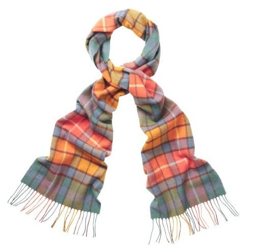 Scottish Lambswool Check Scarf (House Check Tatershall)