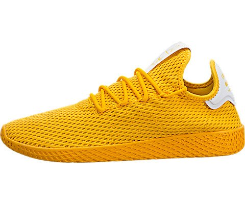 adidas Mens Pharrell Williams Tennis HU Athletic Shoe (Mens 10, Yellow Monochrome 6433) (Mens Yellow Shoes Tennis)
