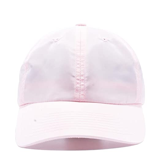 67d85aa1c2d33 New Stylish Blank Solid Color Nylon Adjustable Baseball Dad Cap (Pink)