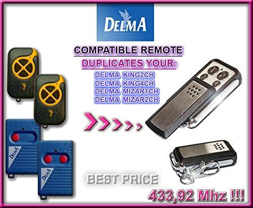Delma Mizar 433-1 / Delma Mizar 433-2 Compatible remote control, CLONE transmitter for garage gate automation, Top Quality keyfob, 433,92MHz fixed code CLONE!!!