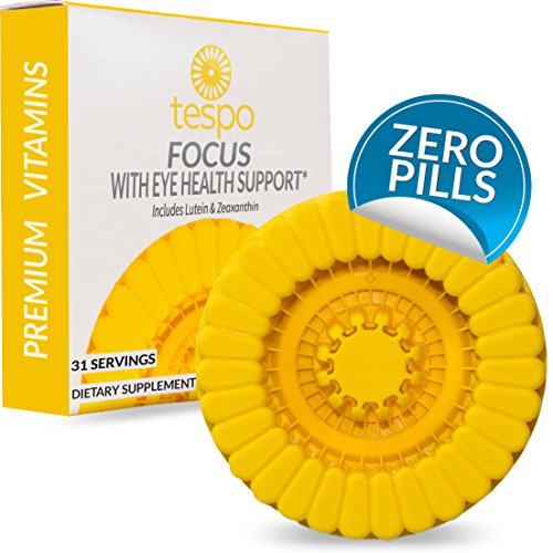 Focus with Eye Health Support Pod | Zero Sugar | No Caffeine | Protective Antioxidant Against Harmful Blue Light | Vitamin B12, Taurine, Ginseng | 31 Liquid Servings per Pod - Powder Load Discs