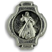Divine Mercy Metal Image 8 mm rosary Beads - Jewelry Mini Accent Beads- Made in Italy