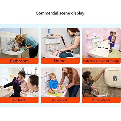 Daycares Klappbare Babywindelwechselstation mit Sicherheitsgurten f/ür Toiletten Vorschulen An Der Wand Befestigter Kindersitz