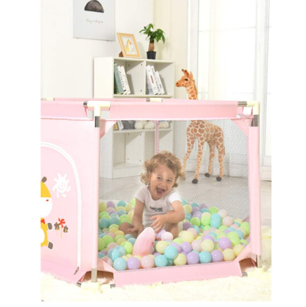 QAZSDF Baby Playpens Indipendente 6 Pannelli Game Activity Center 132x132x67CM Colore : Rosa