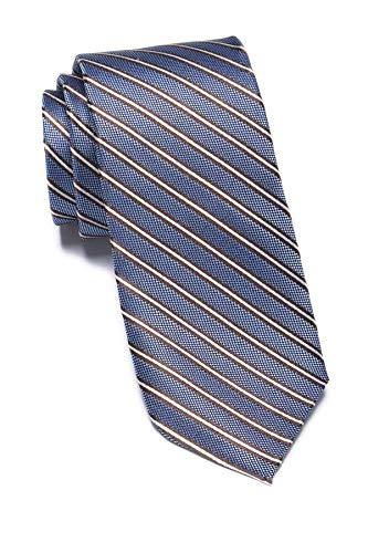 Ben Sherman Lumber Stripe Silk Tie - Blue