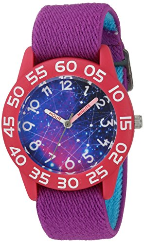 eWatchFactory Girl's 'Discovery Channel' Quartz Plastic and Nylon Sport Watch, Color:Purple (Model: - Discovery Watch