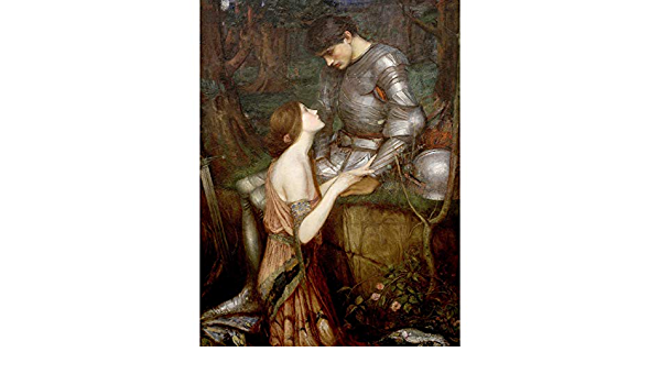 John Waterhouse Lamia Cropped Extra Large Art Poster