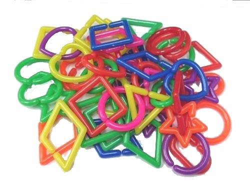Power of Dream Big Mixed Shape C Chain Links Plastic Neon Toy DIY 50 Pcs Y06
