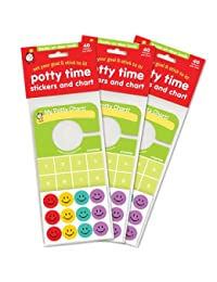 Potty Time Stickers and Chart, Hooks Onto Door Knob: Value 3 Pack BOBEBE Online Baby Store From New York to Miami and Los Angeles