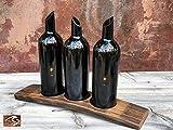 Wine Barrel Stave Candle Holder 3 Wine Bottle Art