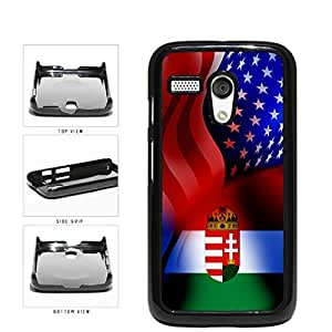 Hungary and USA Mixed Flag Plastic Phone Case Back Cover Moto G