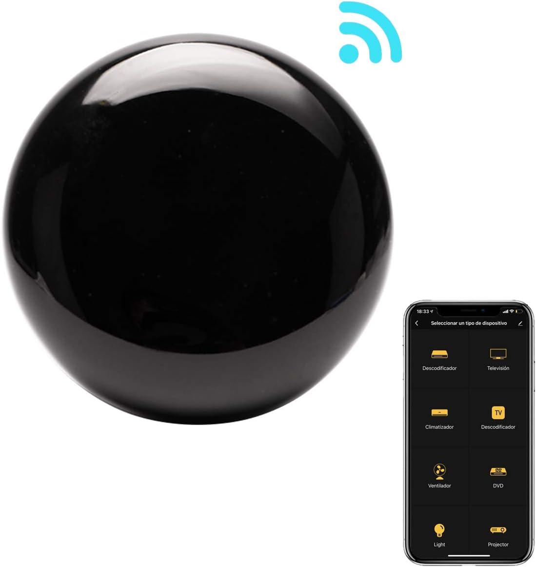 Control Remoto IR Universal Inteligente WiFi Si Smart, Mando a Distancia inalámbrico para Smart TV, televisores, Aire acondicionados y Mucho más. Infrarrojo. Compatible con Alexa y Google Home.