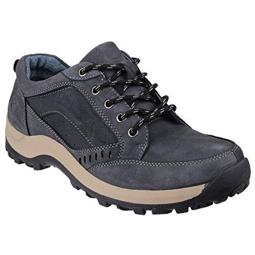 Cotswold Mens Nailsworth Nubuck Leather Walking Shoes Azúl