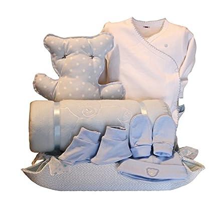 Canastilla bebé - Cuki oso azul - cesta regalo recién nacido Mil ...